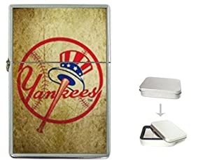 New Product New York Yankees MLB Baseball Sports Flip Top Cigarette Lighter + free Case Box