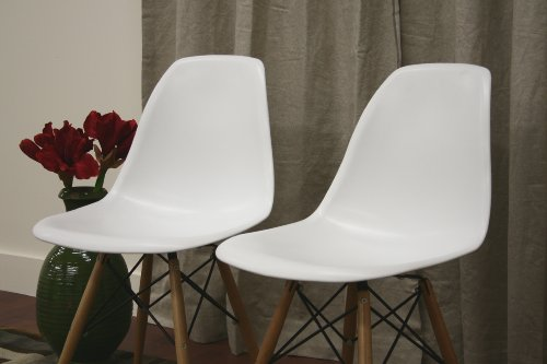 Baxton studio lac plastic side chair set of 2 furniture for White plastic kitchen chairs