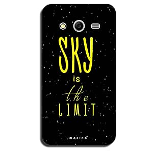 Mozine Sky Is The Limit Printed Mobile Back Cover For Samsung Galaxy Core 2