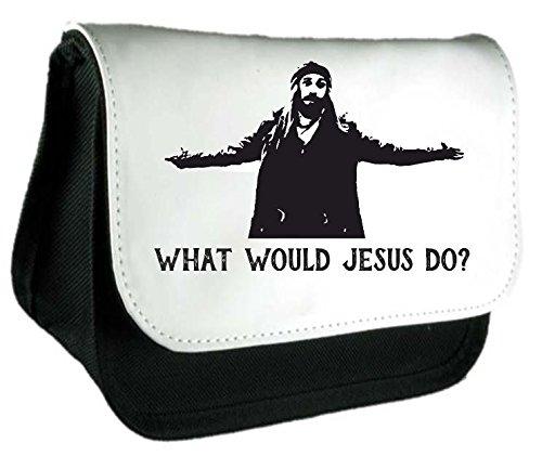 Jesus Do What Would? Walking Dead Living parodia Astuccio o Make Up Clutch Bag Misura unica nero