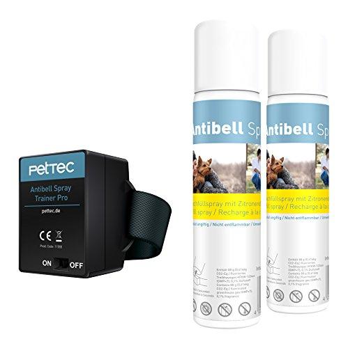 PetTec Antibell Spray Trainer Pro Erziehungshalsband mit...