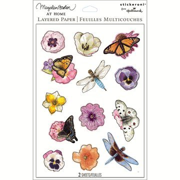 Bastin Flowers Stickers - Garden Stickers - Layered Paper Stickers