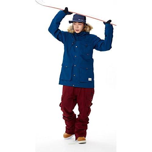 スノーボードウェア メンズ スノボパンツ KELLAN ケラン BAXTER バクスター パンツ スノーボードパンツ (BURGUNDY (赤紫), L)