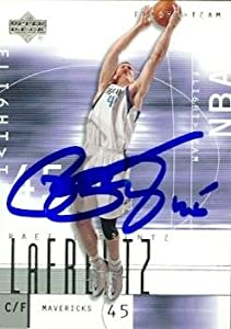 Raef LaFrentz Autographed Hand Signed Basketball Card (Dallas Mavericks) 2002 Upper... by Hall of Fame Memorabilia