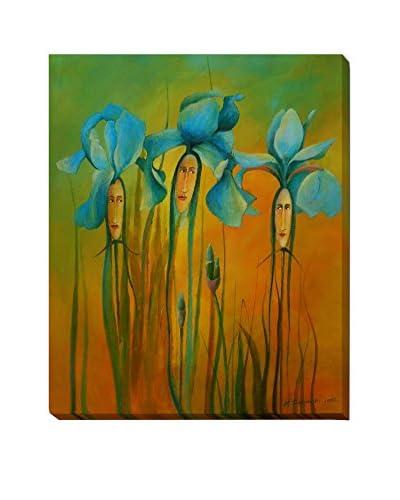"Krzysztof Lozowski ""Iris Ladies"" Weather-Resistant Canvas Print"