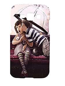Letz Dezine Boy Kiss Girl Printed Design Mobile Back Case Cover for Samsung Galaxy J1 Ace