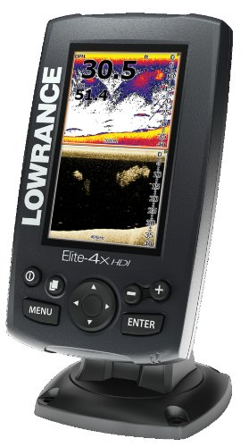 Lowrance Elite-4X Hdi 83/200+455/800 Fishfinder With 83/200+455/800Khz Transom Mount Transducer