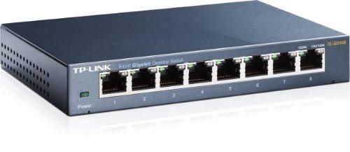 TP-LINK TL-SG108 8-Port Metal Gigabit Ethernet Switch