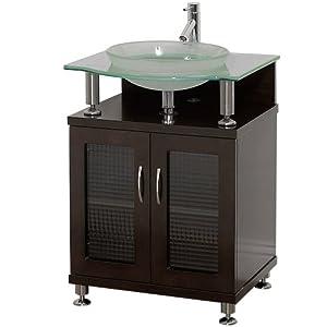Charlton 24 Inch Bathroom Vanity With Doors Espresso W