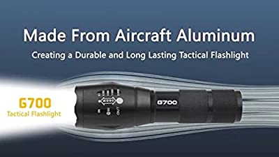 Authentic G700 High Performance Tactical Aluminium Flashlight -700 Lumens x2000 - Lumitact for Self Defense
