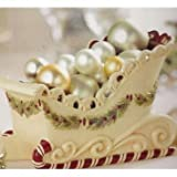 Grasslands Road Deck the Halls 7-1/2 by 4-3/4-Inch Candy Cane Sleigh Candy Dish