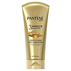 Pantene Smooth and Sleek 3 Minute Miracle Deep Conditioner, 6 Fluid Ounce