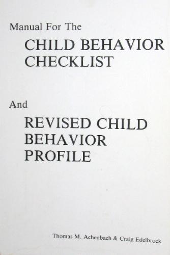 achenbach child behavior checklist manual