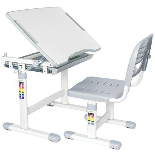 vivo-height-adjustable-childrens-desk-chair-set-kids-interactive-work-station-grey-desk-v201g