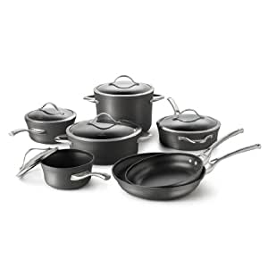 Calphalon Contemporary Hard-Anodized Aluminum Nonstick Cookware, Set,