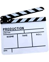 Clapper Board Slate for Tv Film Movie, It Can Record Film Production, Director, Scene, Take, Roll and Date.