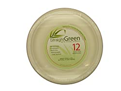 StraightGreen 10.25 In. Heavy Duty Round Dinner Plates (144 Plates, 12 Packs ...