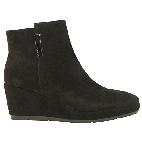 J B Martin Wedged Ankle Boot Zelba 37 BLK SUEDE