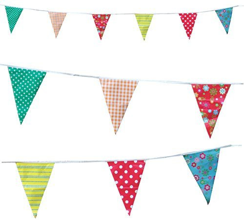 Vintage Cottage Tea Party Pennant Flag Bunting (C1001)