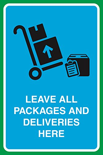 Leave All Packages And Deliveries Here Print Boxes Picture Business Office Sign (Delivery Package compare prices)