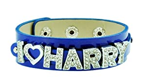 Blue One Direction I Love Harry Bracelet, 1D Bracelet, 1D Wristband, 1D Wrist Band, One Direction Bracelet by Hinky Imports
