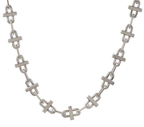 Edforce Stainless Steel Oval Link Necklace