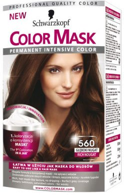 schwarzkopf color mask coloration permanente pour cheveux nougat braun praline n560 - Color Mask Chatain Clair