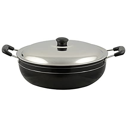 Meet-DKD12-Non-Stick-Deep-Kadhai-With-SS-Lid-(2.5-L)