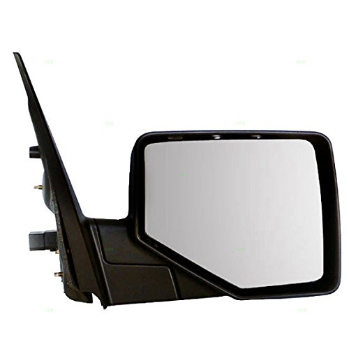 2006-2010 Ford Explorer & Mountaineer, 2007-2010 Sport Track Power Heated with Puddle Lamp/Light Manual Folding (includes 2-Caps Chrome/Smooth Rear View Mirror Right Passenger Side (06 07 08 2008 09 2009 10) (2009 Ford Explorer Side Mirror compare prices)