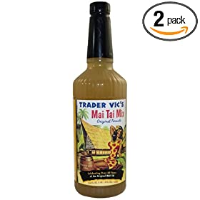 Trader Vics Mai Tai Mix, 33.8-Ounce Plastic Bottle (Pack of 2)