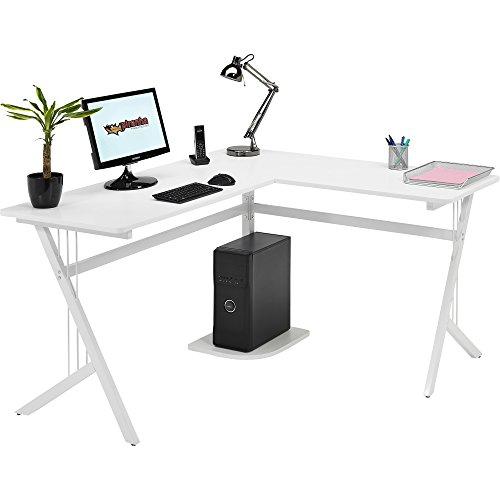 piranha gro er computer eckschreibtisch in wei f r das. Black Bedroom Furniture Sets. Home Design Ideas