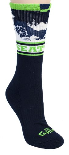 G206 Wear SEATTLE Hawks BLUE Socks-O/S 6-13 at Amazon.com
