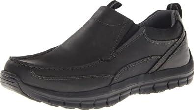 Skechers Men's Mazen Leone Slip-On,Black,6.5 M US