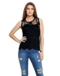 Black Lacy Blouse M