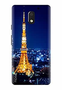 Noise Designer Printed Case / Cover for Motorola Moto E3 Power / Nature / Eiffel Tower Design