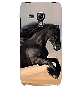 ColourCraft Magnificent Horse Design Back Case Cover for SAMSUNG GALAXY S3 MINI I8190