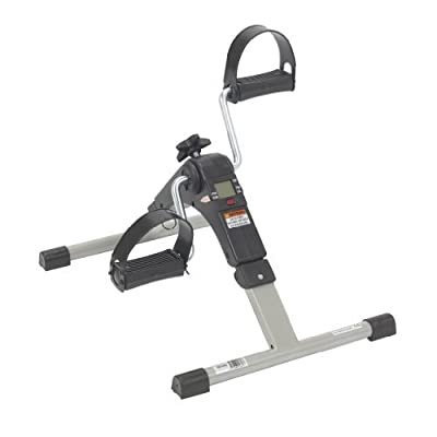 Black Drive Medical Deluxe Folding Exercise Peddler with Electronic Display