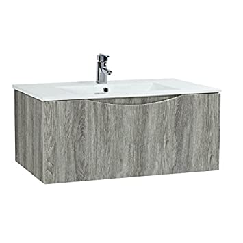 Phoenix Malmo 90 Wall Mounted Unit & Basin - Avola FU047