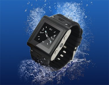 Water-Proof Smartwatch (Black). Smartwatch With Quad-Band Gsm Bluetooth Cell Phone, Music And Video Multimedia Player, Fm Radio, Camera