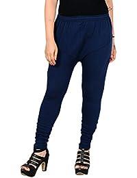 Aashirya Churidar Cotton Lycra Navy Blue Legging For Women