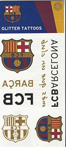 Official FC Barcelona Temporary Glitter Tattoos