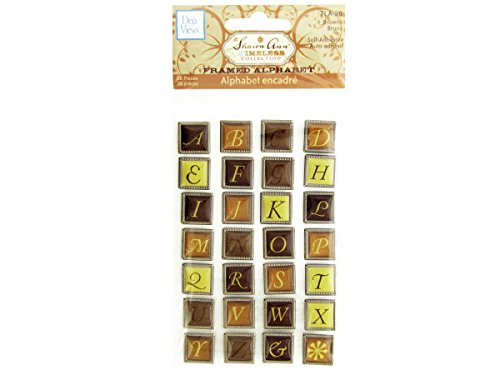 C-Thru Sharon Ann Timeless Framed Alphabet Stickers, Browns