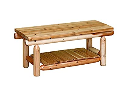 White Cedar Rustic Coffee Table *MX*