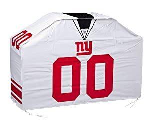 New York Giants White Jersey BBQ Grill Cover by Fans With Pride