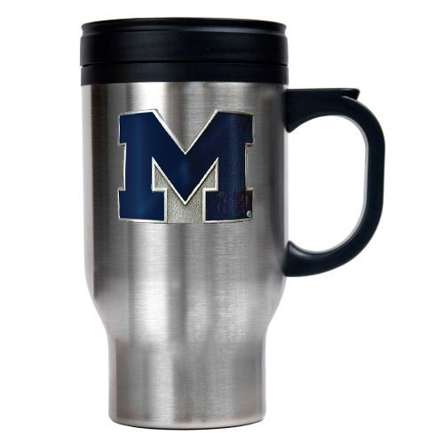 Ncaa Michigan Wolverines 16-Ounce Stainless Steel Travel Mug front-466170