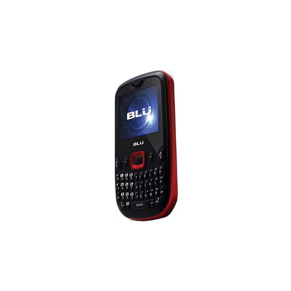 Blu Q210 Samba Mini Unlocked Phone with Dual SIM card support, Stereo Bluetooth, FM Radio, Full QWERTY keyboard, 2 MP Camera and microSD Slot   US Warranty   Red