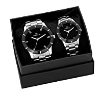H Timewear Analog Black dial Couple Watch - 906CHBDTCOUPLE