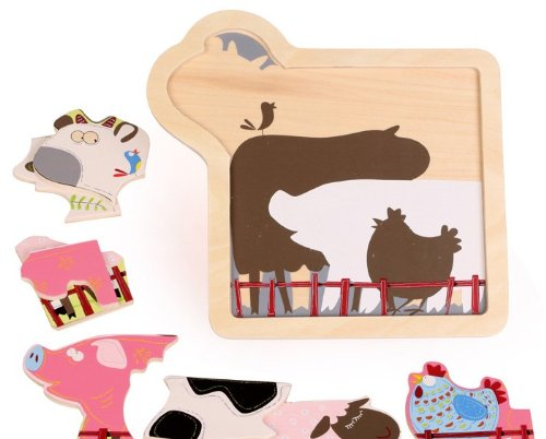 Children Gift - Olina Deluxe Wooden Multilayer Jigsaw Puzzle --- Creative Farm - 1