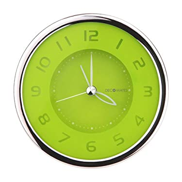 DecoMates Non-Ticking Silent Small Wall & Desk Alarm Clock - Fruity (Kiwi)
