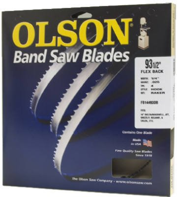Olson Hard Edge Flex Back Band Saw Blade Fits All 14-Inch Delta/Rockwell, Jet, Grizzly, Reliant, Enlon, Star, Bridgewood